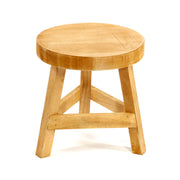 Plain Wood Three Legged Stool Standing at 23cm High