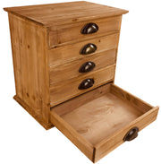 Solid Wood Trinket With 5 Drawers 38cm