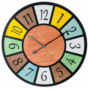 Multi Coloured Wall Clock 58cm