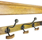 Solid Wood Bracket With 5 Hooks 71cm