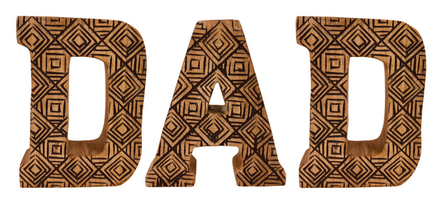 Hand Carved Wooden Letters Dad