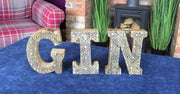 Hand Carved Wooden Letters Gin