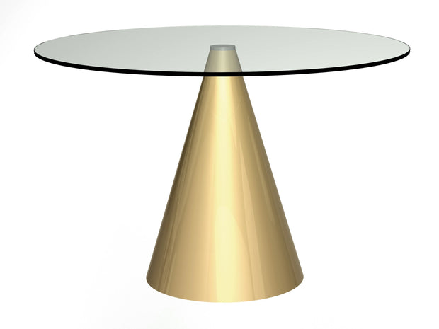 Cone Base Dining Table Round - Large