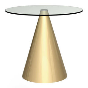 Cone Base Dining Table Round - Small
