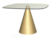 Cone Base Dining Table Square - Large