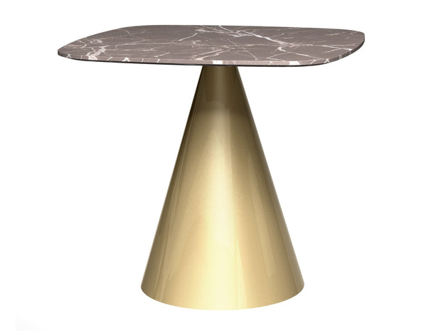 Cone Base Dining Table Square  Small