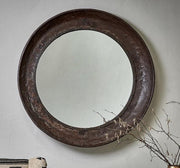 Reclaimed Iron Round Mirror