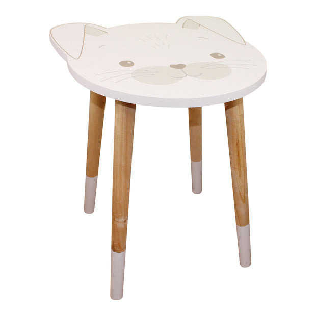 Baby Bear Wooden Side Table, Rabbit Design