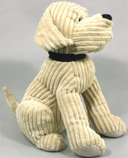 Large Gold Ribbed Dog Doorstop