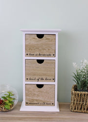 Heart Of The Home 3 Drawer Trinket Storage
