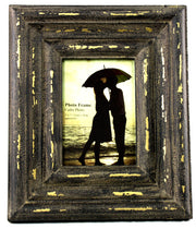 Distressed Brown & Gold Photo Frame Takes 5 X 7 Photo