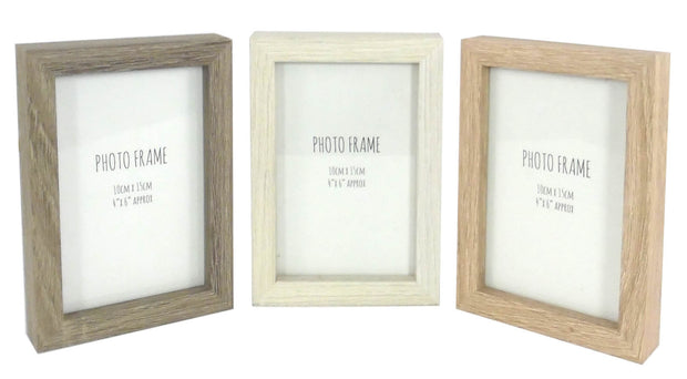 Set Of 3 Wooden Photo Frames
