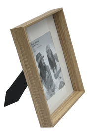 Natural Wood Box Style 5 X 7 Photo Frame