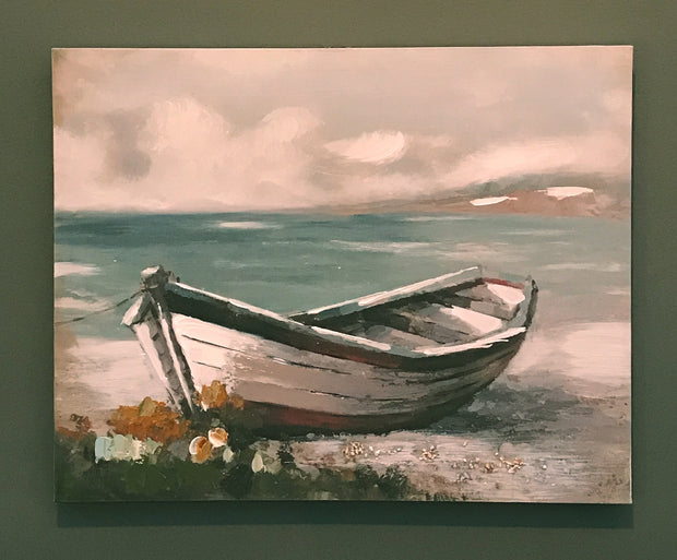 Wooden Boat Canvas - Red Boat