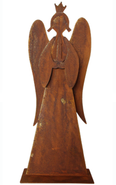 Rustic Metal Angel - Allissias Attic  &  Vintage French Style