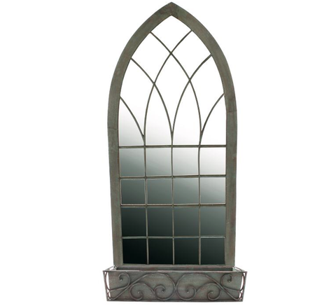 Ornate Gothic Mirror for the Garden or Patio - Allissias Attic  &  Vintage French Style - 3