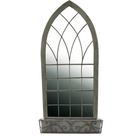 Ornate Gothic Mirror for the Garden or Patio - Allissias Attic  &  Vintage French Style - 2