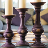 Kew Gardens Pillar Candle Holder - Aubergine - Allissias Attic  &  Vintage French Style - 2