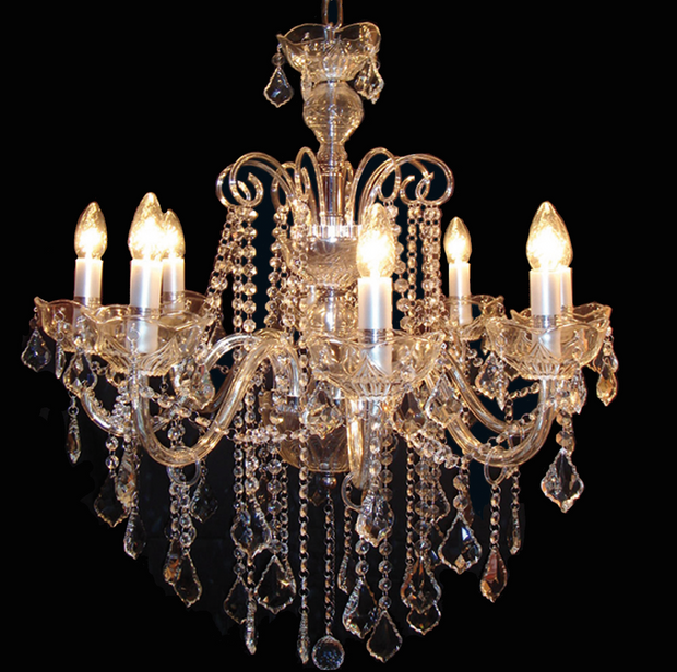 Classic Crystal Clear Chandelier - Allissias Attic  &  Vintage French Style - 2