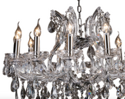 Silver Classic Crystal Chandelier - Allissias Attic  &  Vintage French Style - 2