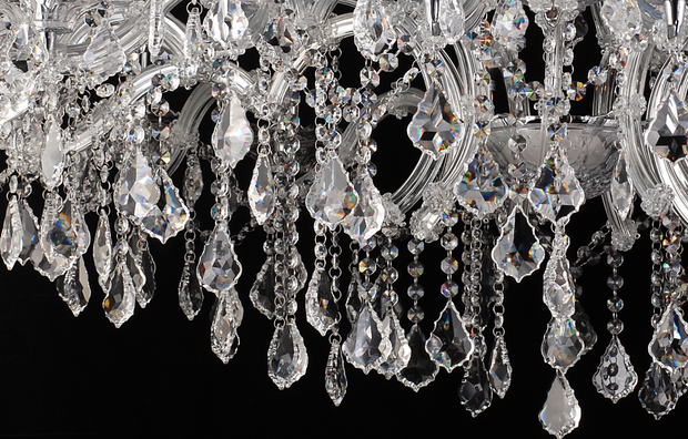 Enormous Crystal Drop Chandelier - Allissias Attic  &  Vintage French Style - 3
