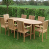 Hampstead 8 Stacking Teak Chairs & Teak Extendable Table - Allissias Attic  &  Vintage French Style - 1