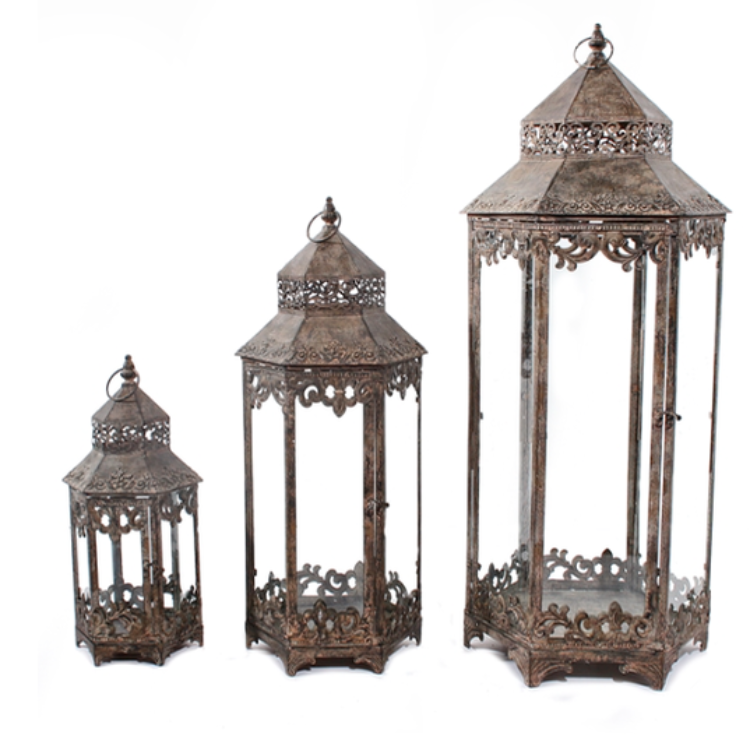 Set 3 Siena Lanterns - Allissias Attic  &  Vintage French Style