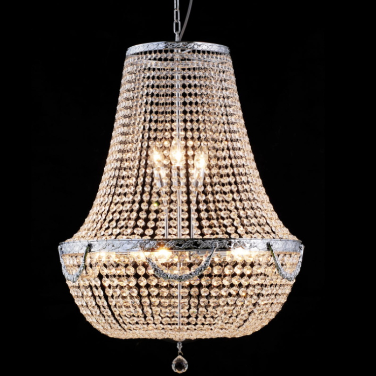 Large Crystal Basket Chandelier - Allissias Attic  &  Vintage French Style - 1