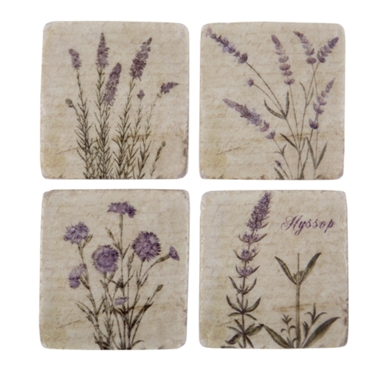 Wild Flower Coasters Set of 4 - Allissias Attic  &  Vintage French Style - 1