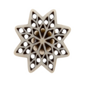 Bone Fretwork Knob Star - Allissias Attic  &  Vintage French Style - 1