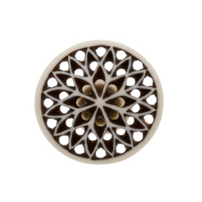 Bone Fretwork Knob Round - Allissias Attic  &  Vintage French Style - 1