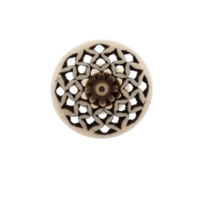 Bone Fretwork Knob Diamond - Allissias Attic  &  Vintage French Style - 1