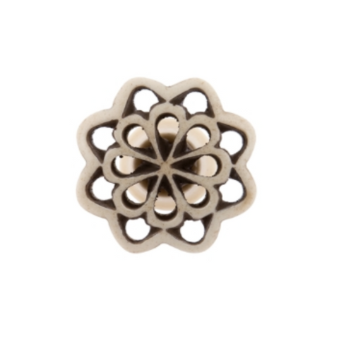 Bone Fretwork Knob Petal - Allissias Attic  &  Vintage French Style - 1