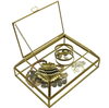 Orangery Glass & Brass Jewellery Box & Trays - Allissias Attic  &  Vintage French Style - 6