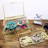 Orangery Glass & Brass Jewellery Box & Trays - Allissias Attic  &  Vintage French Style - 1