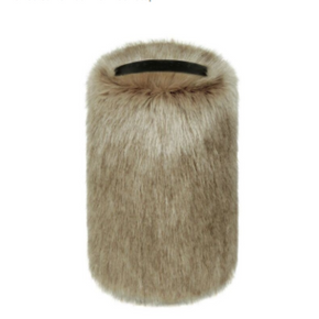 Faux Fur Doorstop - Camel - Allissias Attic  &  Vintage French Style - 1