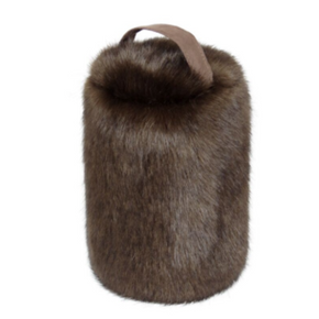 Faux Fur Doorstop - Treacle - Allissias Attic  &  Vintage French Style