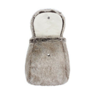 Faux Fur Child's Backpack - Truffle - Allissias Attic  &  Vintage French Style - 2