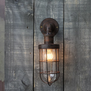 Vintage Styled Caged Outdoor Light - Allissias Attic  &  Vintage French Style - 1