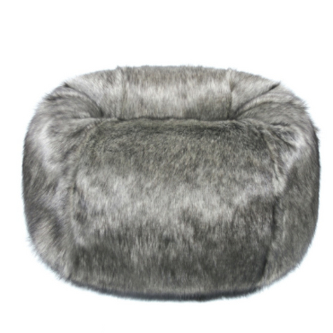 Faux Fur Beanbag - Lady Grey - Allissias Attic  &  Vintage French Style
