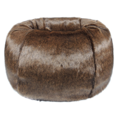 Faux Fur Beanbag - Golden Bear - Allissias Attic  &  Vintage French Style