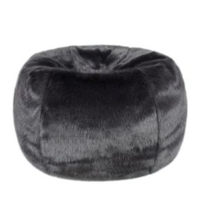 Faux Fur Beanbag - Charcoal - Allissias Attic  &  Vintage French Style