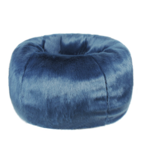 Faux Fur Beanbag - Petrol - Allissias Attic  &  Vintage French Style