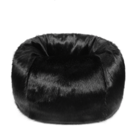 Faux Fur Beanbag - Jet - Allissias Attic  &  Vintage French Style