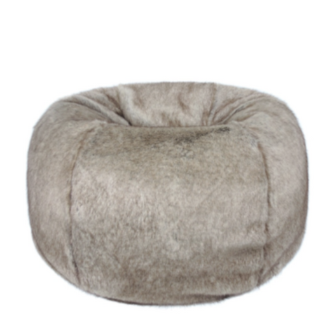 Faux Fur Beanbag - Truffle - Allissias Attic  &  Vintage French Style