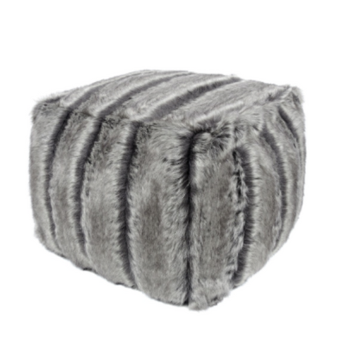 Faux Fur Cube - Aspen - Allissias Attic  &  Vintage French Style