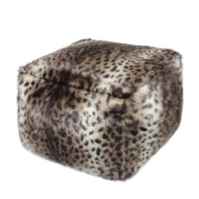 Faux Fur Cube - Ocelot - Allissias Attic  &  Vintage French Style