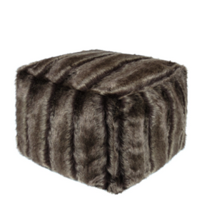 Faux Fur Cube - Oregon - Allissias Attic  &  Vintage French Style