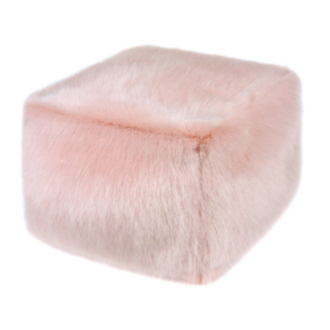 Faux Fur Cube - Dusky - Allissias Attic  &  Vintage French Style