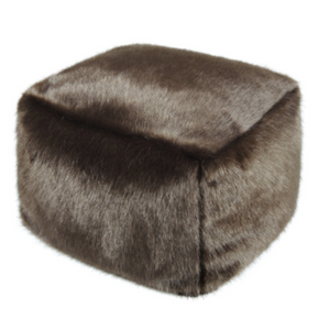 Faux Fur Cube - Treacle - Allissias Attic  &  Vintage French Style